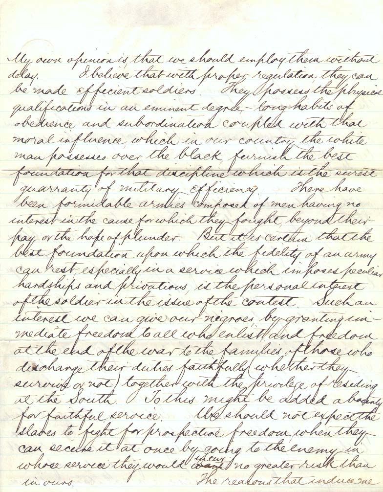 letter to his son robert e lee essay On january 23, 1861, when lee wrote the letter to one of his sons, virginia had not yet seceded and the matter of secession was still object of a.